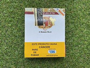 Charuto Cubano Romeo e Julieta No.2 Tubos - Peteca com 5