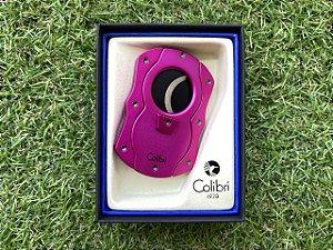 Cortador de Charuto Colibri CUT Laquered Pink & Black