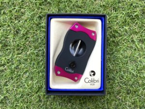 Cortador de Charuto Colibri V-CUT Black & Pink
