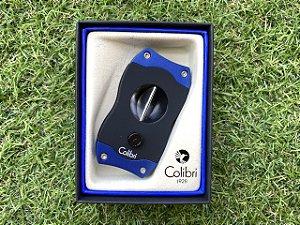 Cortador de Charuto Colibri V-CUT Black & Blue