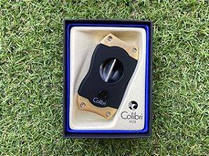 Cortador de Charuto Colibri V-CUT Black & Gold