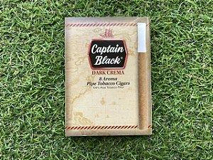 Cigarrilha Captain Black Aroma Dark Crema - Caixa com 8