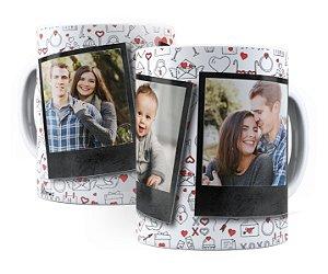 Caneca Personalizada Com 3 Fotos