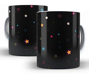 Caneca Estrelas 325 Ml De Porcelana - PROMOÇÃO