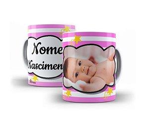 Caneca Lembrancinha Personalizada Com Foto Do Seu Nené Recém Nascido Nome e Data