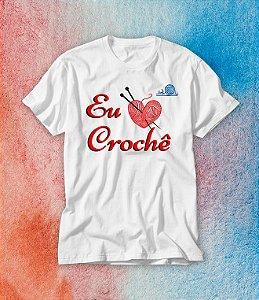 Camiseta Eu Amo Crochê