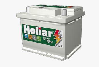 Bateria Carro 52amp Heliar Superfree Lado Direito Caixa Alta - Hf52gd