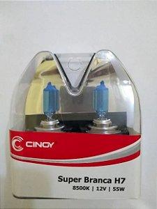 Lâmpada Super Branca H7 8500k Efeito Xenon Cinoy Par - Yn12/h7a