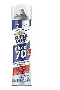 Alcool 70% Spray Aerossol Super Dom 300ml - Domline - 0210192