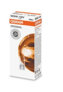 Lâmpada Osram Glass Wedge 5w5 12v W2.1x9.5d - 2825
