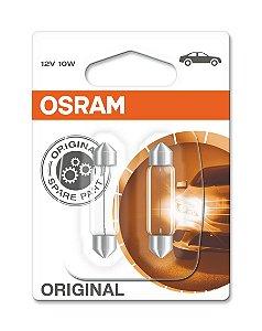 Lâmpada Osram Festoon 12v 10w Torpedo - 6411