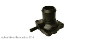 Flange Valvula Termostatica Valclei Ford Focus 1.8/2.0 00/05 - Vc319