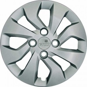 Jogo Calota Grid Aro 14 Chevrolet Onix/prisma 17/18 Prata - 373cb