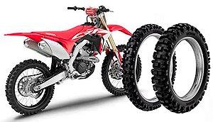 Kit Pneu Moto Honda Crf250r Rinaldi Dianteiro/traseiro