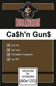 Sleeves Customizados Bucaneiros: Cash n Guns 60 x 120 mm