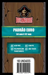 Sleeves Bucaneiros: EURO 59 x 92 mm