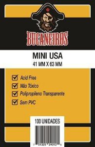 Sleeves Bucaneiros: MINI USA 41 x 63 mm