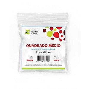 Sleeves Meeple Virus: QUADRADO MÉDIO 80 x 80 mm (Blue Core)