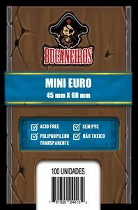 Sleeves Bucaneiros: MINI EURO 45 x 68 mm