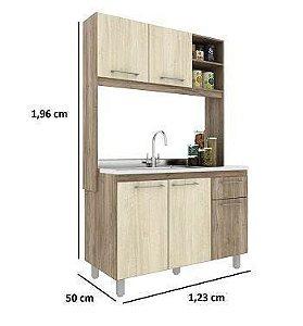 Cozinha Compacta 123 cm Alice Carvalho/Cordilheira