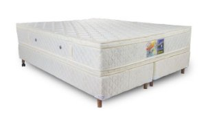 Cama Box Queen Blanc 158 x 198 x 67
