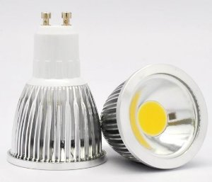Lâmpada Dicróica LED COB MR 16 GU10 7W Branco Frio 6500K 550 Lumens - Bivolt