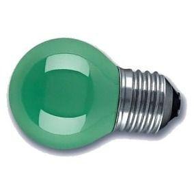 Lâmpada Decorativa Mini Bulbo Bolinha LED 1W E27 127V Verde