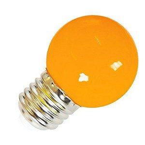 Lâmpada Decorativa Mini Bulbo Bolinha LED 1W E27 127V Laranja