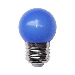 Lâmpada Decorativa Mini Bulbo Bolinha LED 1W E27 127V Azul