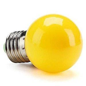 Lâmpada Decorativa Mini Bulbo Bolinha LED 1W E27 127V Amarela