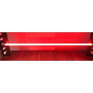 Lâmpada LED Tubular Color Glass 18W T8 G13 120cm Vermelho
