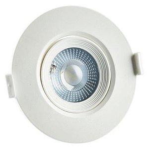 Spot Led Dicróica Direcionável Embutir Redondo COB 5W Branco Quente 3000K Bivolt