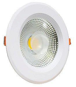 Plafon SPOT LED Embutir Downlight COB 30w 6500K Branco Frio Bivolt