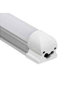Lâmpada LED Tubular T5 com calha 120cm 20W Branco Frio 6000K Bivolt