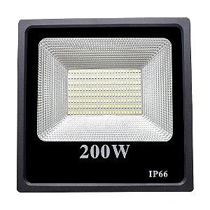 Refletor Led SMD 200w 6500K Branco Frio Bivolt IP66