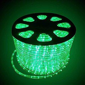 Mangueira redonda led verde 220v ip66 rolo 100m