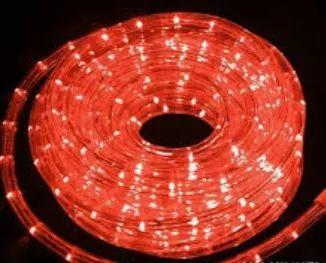 Mangueira redonda led vermelho 220v ip66 1 metro