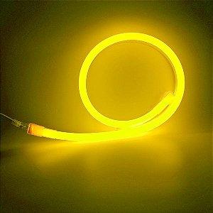 Mangueira led neon flex ambar 220v ip66 1 metro