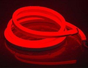 Mangueira led neon flex vermelho 127v ip66 1 metro