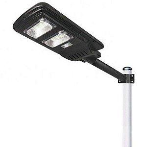 Luminária Publica 40W com placa solar integrada e sensor de presença 6500K Bivolt