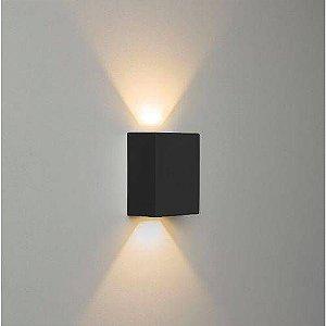 Arandela de Parede LED Quadrado 10W Facho Duplo 3000K Branco Quente Bivolt