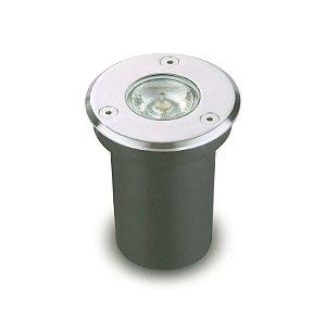 Luminária LED Embutido de solo 3W 3000K IP67 Branco Quente Bivolt