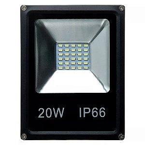 Refletor Led SMD Verde 20w Bivolt IP66
