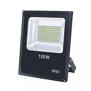 Refletor Microled SMD Verde 100w Bivolt IP66