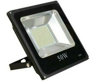 Refletor Microled SMD 50w 3000K Branco Quente Bivolt IP66