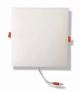 Plafon Led Embutir Quadrado Borda Infinita 18W Branco Frio Bivolt