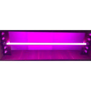 Lâmpada LED Tubular Rosa Policarbonato 2l 18W T8 G13 120cm
