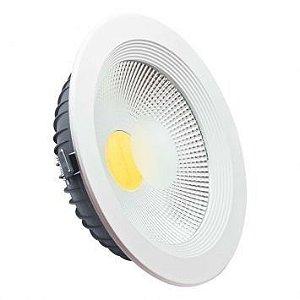 Plafon Embutir Downlight COB 30w 3000K Branco Quente Bivolt