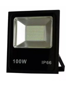 Refletor Microled SMD 100w 3000K Branco Quente Bivolt IP66