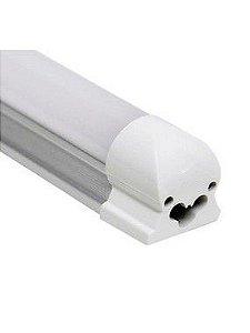 Lâmpada LED Tubular T5 com calha 120cm 20W Branco Quente 3000K Bivolt